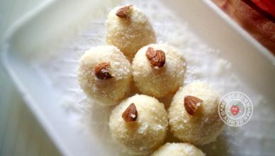 Coconut Ladoo using Condensed Milk