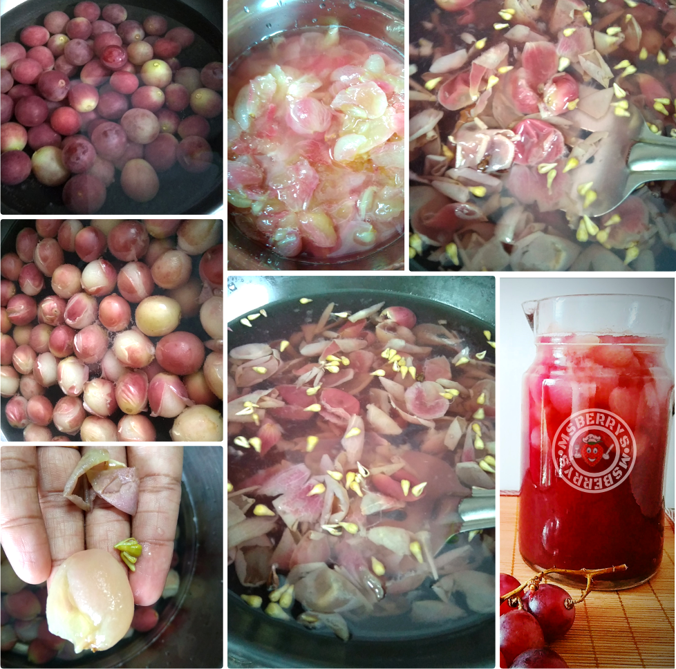 pulpy grapes juice making